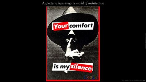 your comfort is my silence an assumed thesis project for masters in architecture