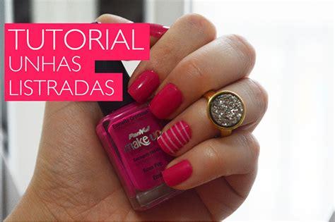 Tutorial Unhas Instagram | tutorial unhas decoradas listradas v 237 deo manu luize