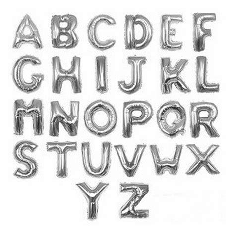 jumbo 40 inch silver 26 alphabet letters balloons foil