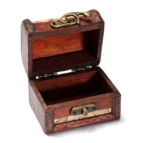 small wooden treasure chest boxes vintage st small metal lock jewelry treasure chest case