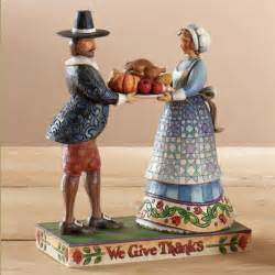 heartwood creek pilgrims with thanksgiving turkey figurine
