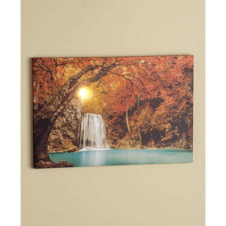 Lighted Treescapes Canvas Wall