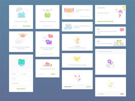 ui pattern messages news portal concept sketch freebie download free