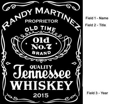 Tennessee Whiskey Label Mini Oak Barrels Liquor Bottle Label Templates Free