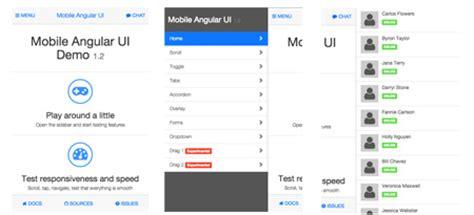 mobile web ui framework html5 mobile web frameworks