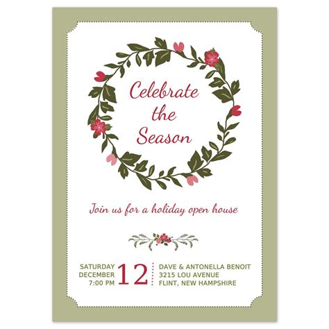 printable christmas party invitation happy holidays