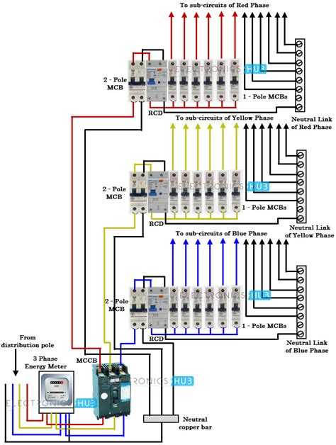 3 phase circuit breaker wiring diagram get free image