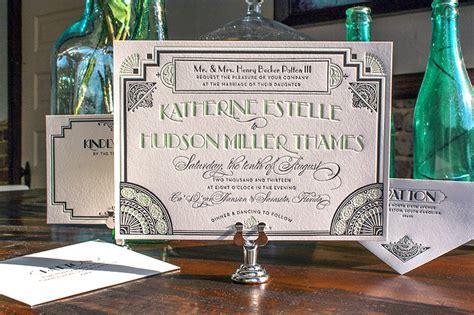 Great Gatsby Wedding Invitations