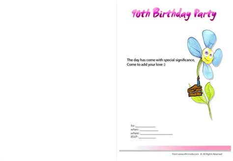 90th birthday invites templates 90th birthday invitations free printable