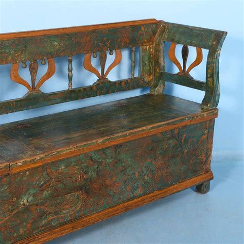 antique storage bench antique original painted long green storage bench circa