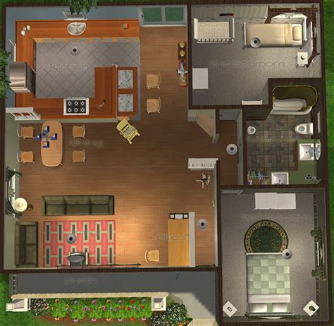 sims 2 house floor plans mod the sims cottage bungalow