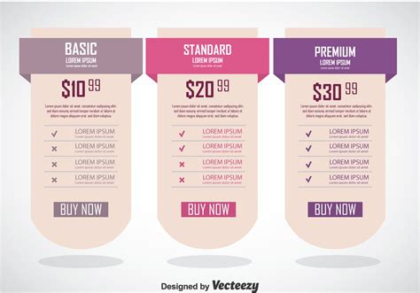 Pricing Table Banner Template Download Free Vector Art Stock Graphics Images Table Banner Template