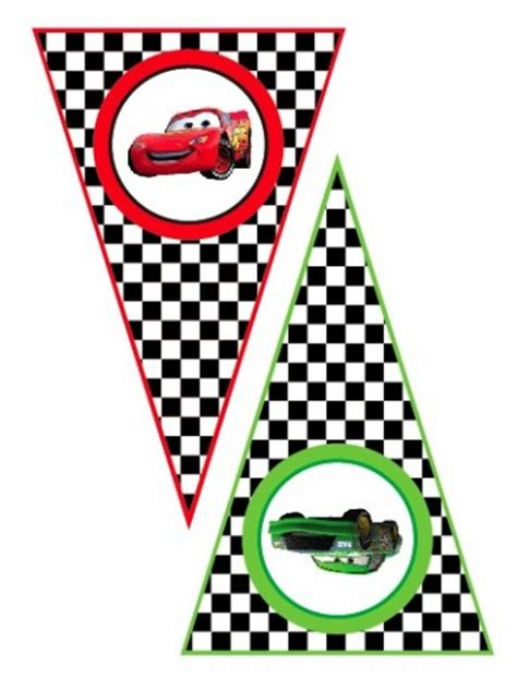 disney cars happy birthday banner printable disney cars lightning mcqueen matter printable banner
