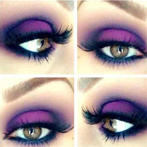 Dramatic Purple Eyeshadow | bright purple smoky eye eyes makeup dramatic
