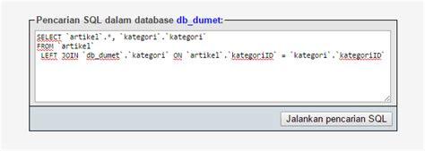 cara membuat query gabungan cara membuat query dalam mysql kursus web programming