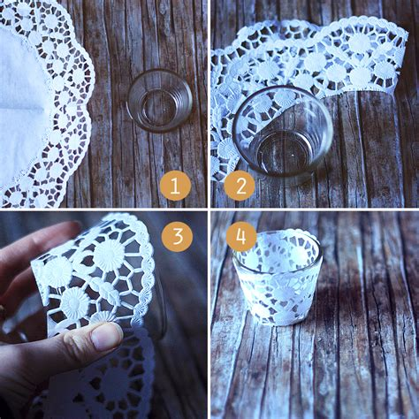 How To Make A Paper Candle Holder - decorative doily candle holders handmade in minutes