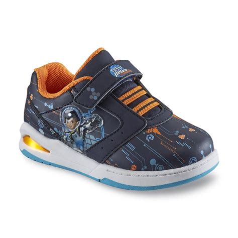 baby boy light up shoes disney boy s miles from tomorrowland navy orange