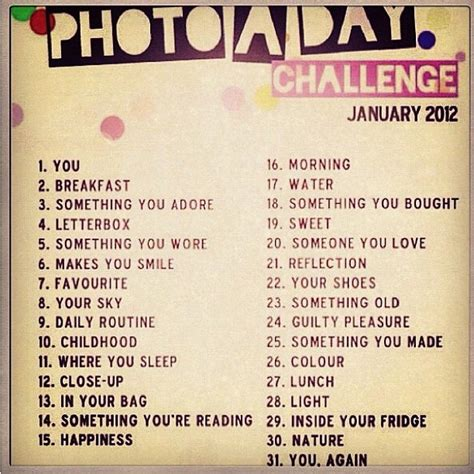 challenge for what is the instagram photo a day challenge for january