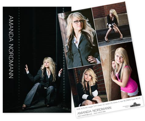comp card design template pages high end modern and clean designed comp cards and headshots