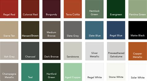 metal paint colors standing seam metal roof colors note that colors