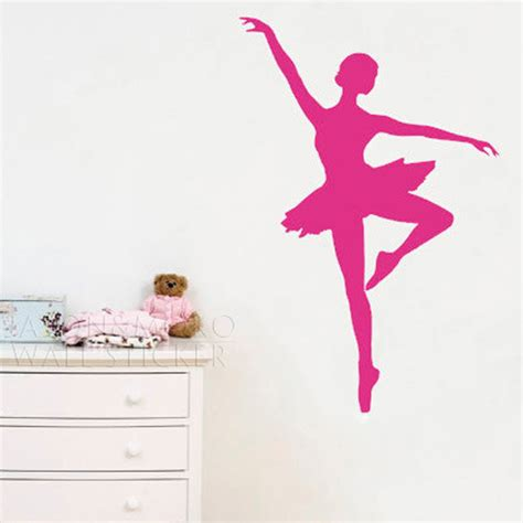 ballet wall stickers ballet ballerina dancer sports wall stickers decor vinyl baby room home decoration