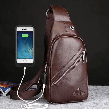 Tas Selempang Usb Port Multifunction Crossbody Bag s trends in bundle sale newchic package