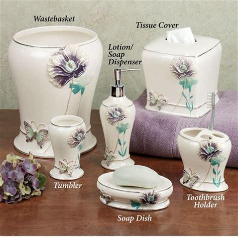 lilac bathroom accessories garden gate bath accessories