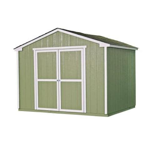 diy shed kit home depot handy home products cumberland 10 ft x 8 ft wood shed