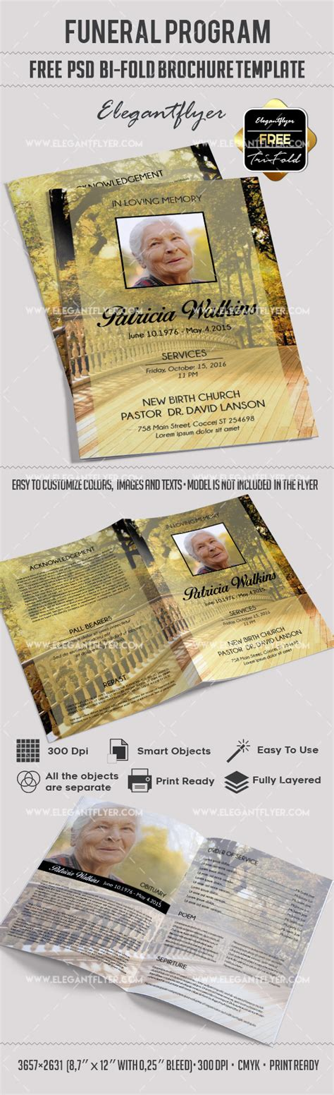 funeral brochure template funeral program templates free bi fold brochure by