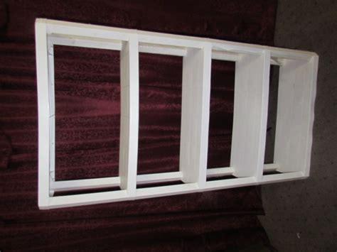 lot detail white plastic shelving unit