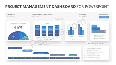 Project Management Dashboard For Powerpoint Pslides Powerpoint Templates Project Management