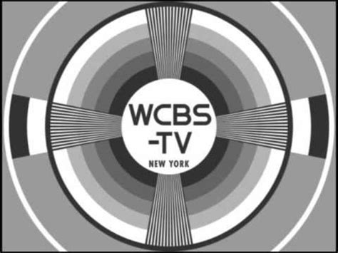 test pattern black and white repro of classic wcbs tv test pattern w accompanying