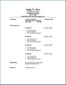 Simple Format For Resume Sample Resume Format September 2015