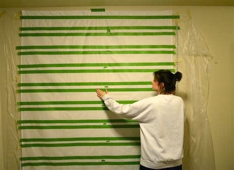 how to remove paint from curtains rachel schultz painted no sew striped curtains