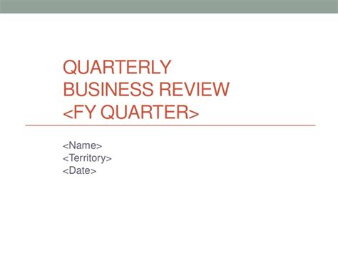 templates for quarterly business reviews quarterly business review template qbr best free