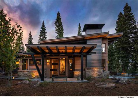 Contemporary Mountain Home Plans | this modern mountain retreat is ideal place to unwind