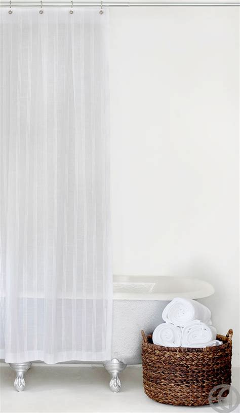 extra long white cotton shower curtain extra long white stripe fabric shower curtain