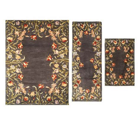 qvc area rugs royal palace royal palace floral fields 3 pc area size handmade wool rug set qvc