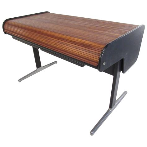 Modern Roll Top Desk Mid Century Modern Tambour Roll Top Desk By George Nelson For Herman Miller For Sale At 1stdibs