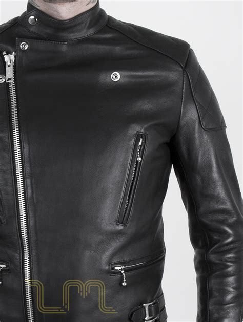 leather biker gear leather cafe racer biker jacket invictus by leather