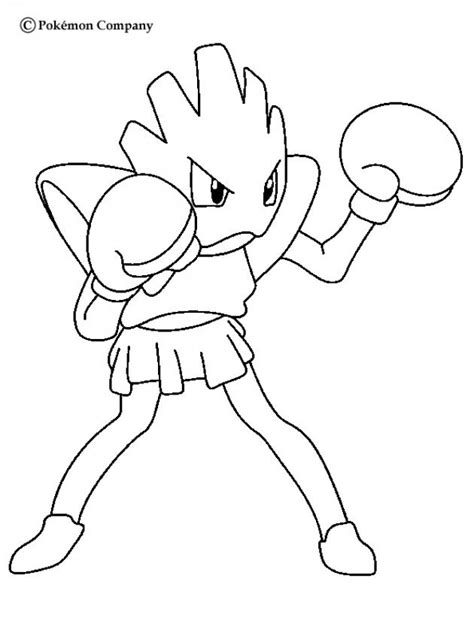 pokemon coloring pages hitmonchan strong hitmonchan coloring pages hellokids com