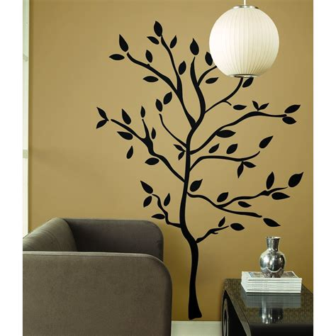 Black Tree Branch Western Engraving Room Sticker Vinyl Wall Decal For Room