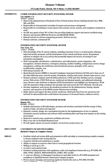 Security Engineer Resume by Information Security Engineer Resume Sanitizeuv
