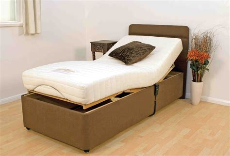 Adjustable Single Size Beds With Mattress And Brown