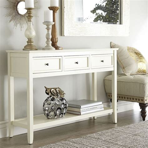 white entry table antique white console table smooth classic and tables