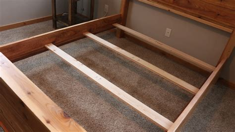 bed frame with slats diy bed frame plans how to make a bed frame with diy pete