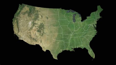 map usa states satellite usa ohio state columbus extruded on the satellite map