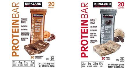 costco wholesale kirkland signature protein bars   net carbs  bar   count