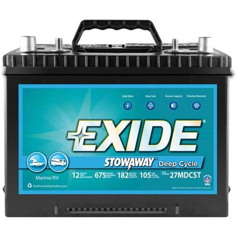 academy exide stowaway cycle marine and rv battery