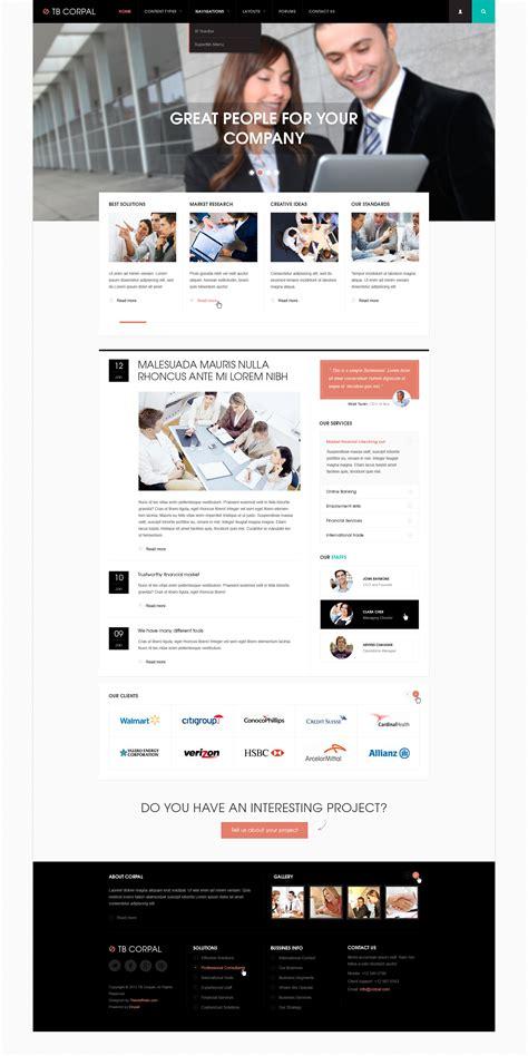 drupal themes responsive blog preview responsive business drupal theme tb corpal